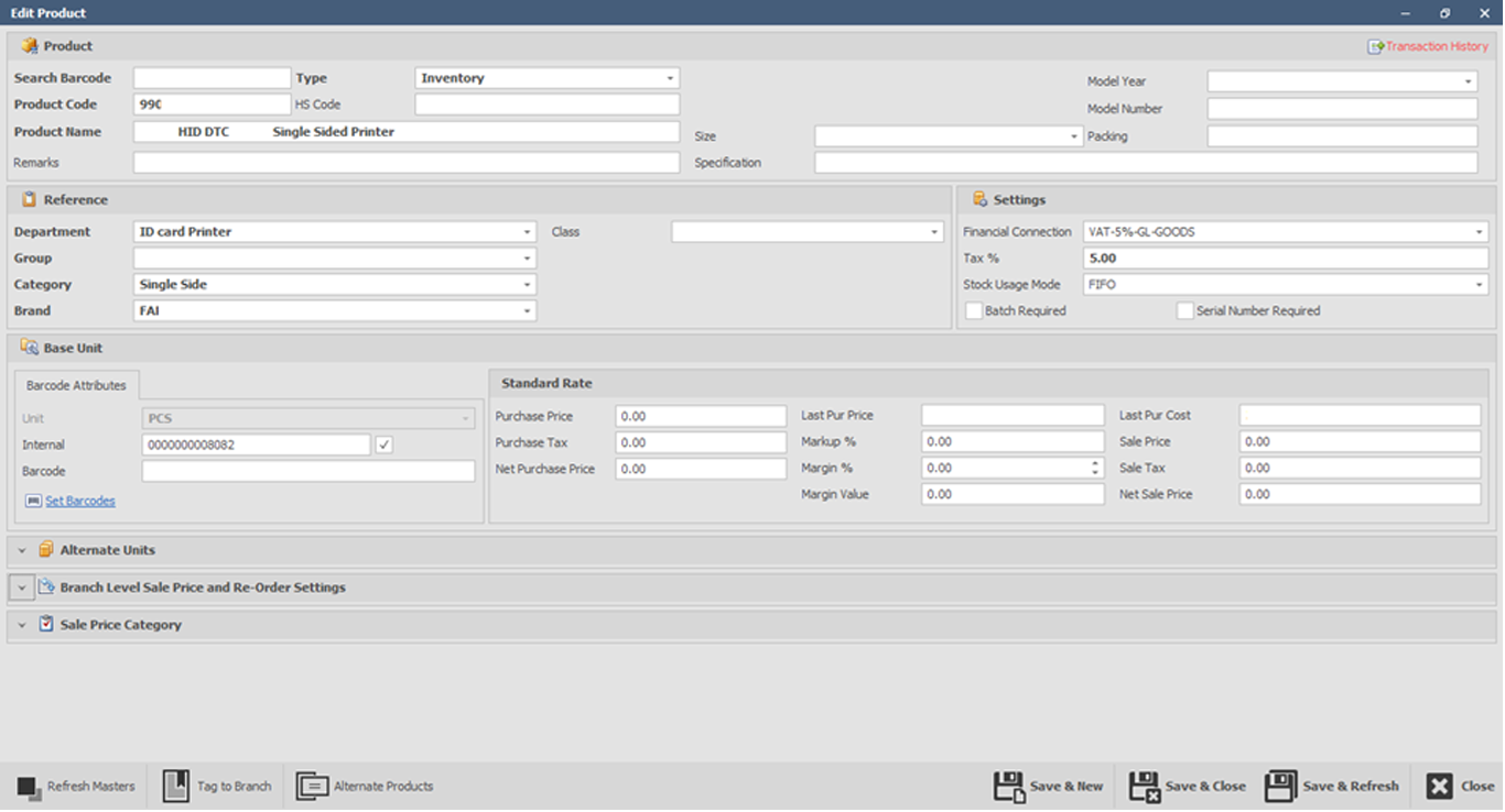 Retail erp with point of sale module